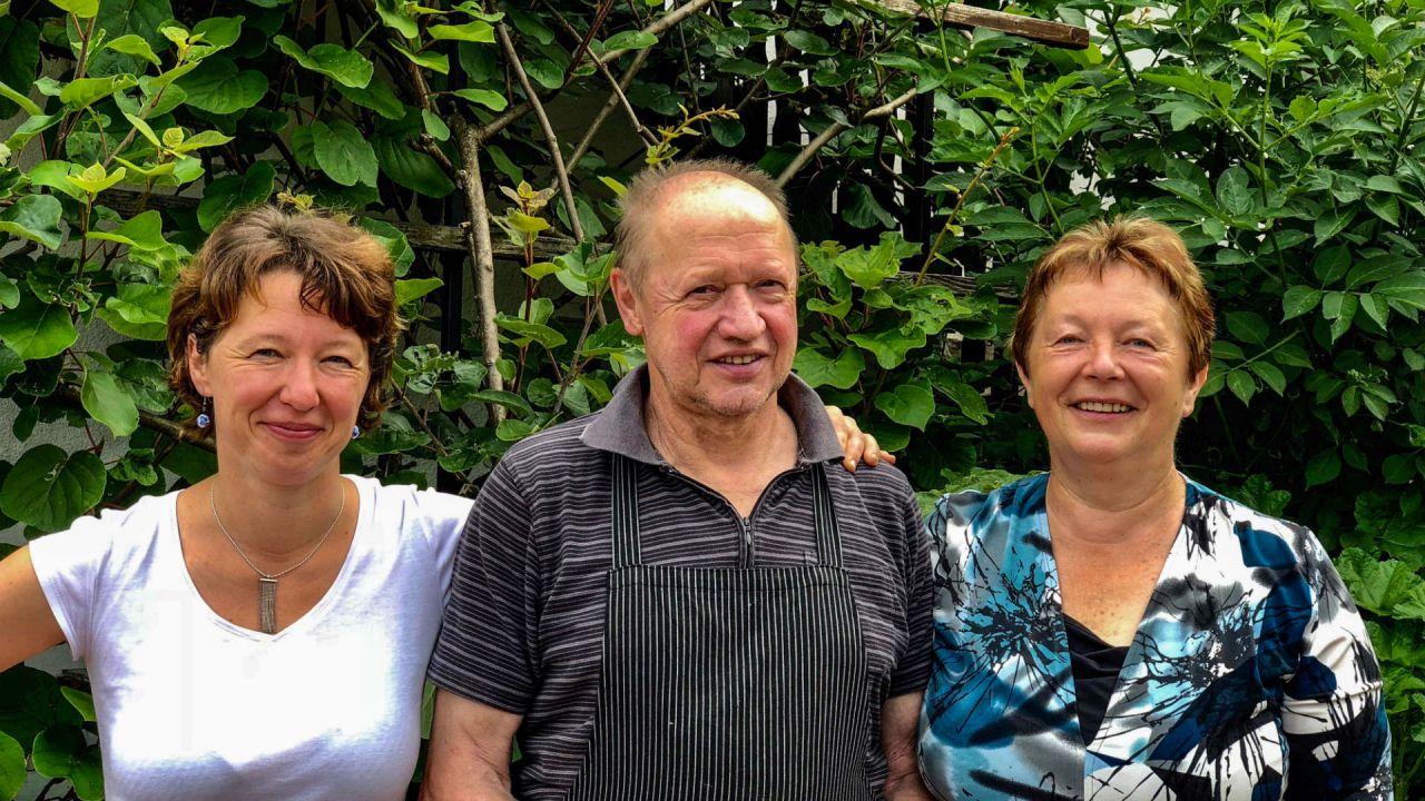 Family Kranjc: Urška, Vinko, Irena